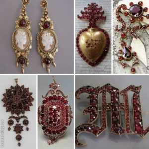 гранатовые украшения 19 век