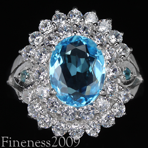 серебряное кольцо со швейцарским топазом