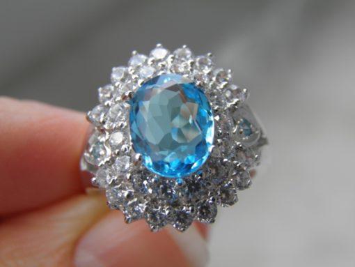 кольцо со швейцарским топазом