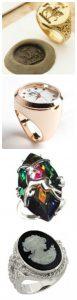 кольцо-печатка, гороскопическое, кольцо-часы и кольцо-камея