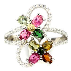 Серебряное кольцо с турмалином