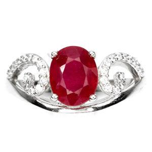 Кольцо из серебра с рубином