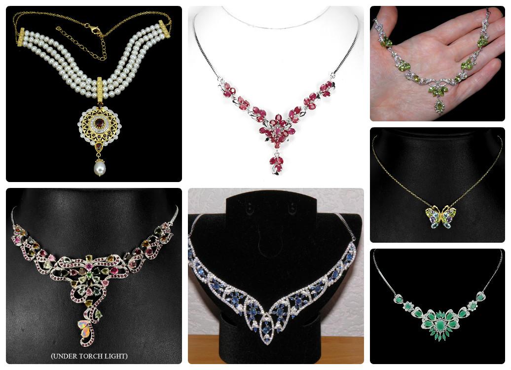 Ожерелья и колье с натуральными камнями