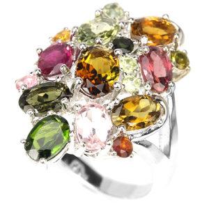 кольцо из серебра с турмалином