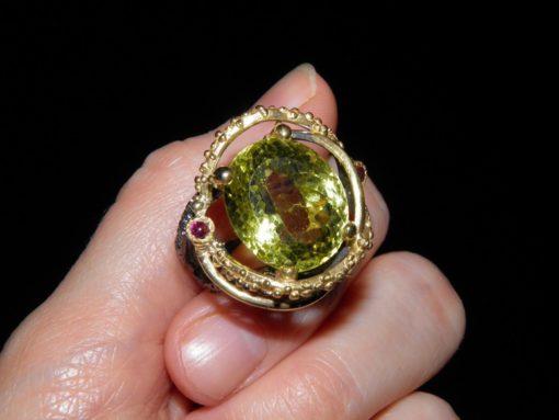 Серебряное кольцо с лимонным кварцем