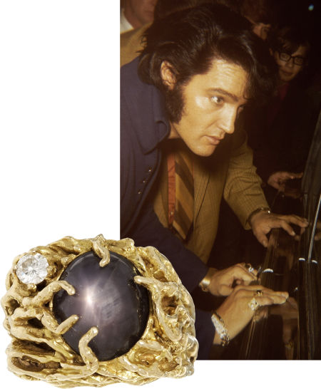 кольцо со звёздчатым сапфиром Элвиса Пресли