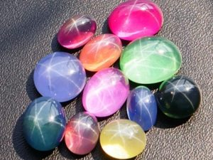 Цветовая гамма звёздчатых сапфиров