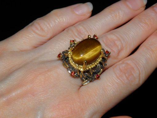 кольцо с тигровым глазом купить в Украине
