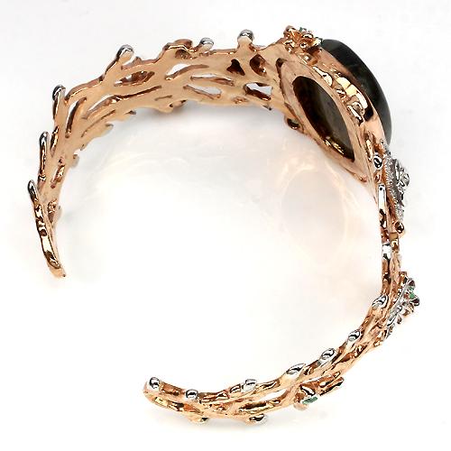 Серебряный браслет с натуральным лабрадоритом