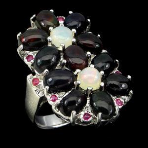Опаловый перстень и серебра