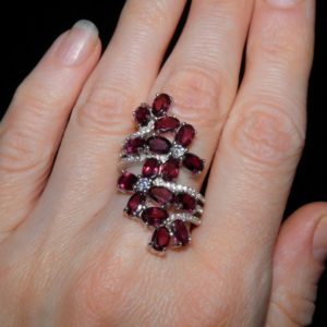 Родолитовое кольцо из серебра