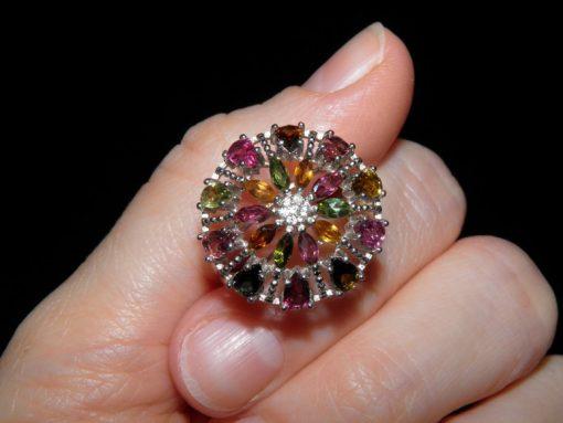 Серебряный перстень с натуральным турмалином