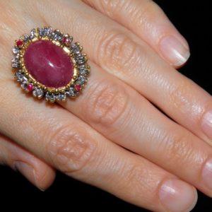 Рубиновый перстень из серебра