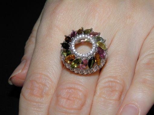 Купить кольцо с турмалином