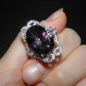 Серебряное кольцо с мистическим кварцем