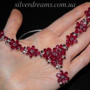 Колье с рубинами купить в Украине