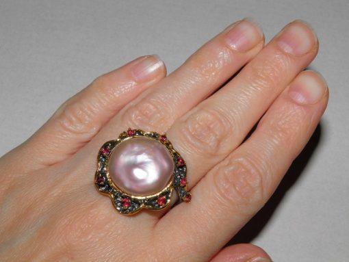 Купить кольцо с барочным жемчугом