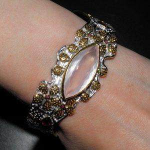 Купить браслет с розовым кварцем