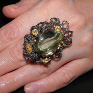 кольцо с празиолитом купить в украине