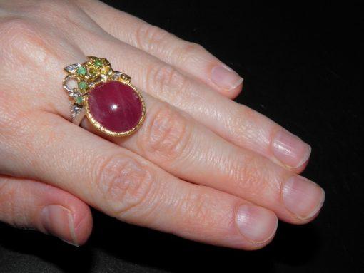 Ребиновый перстень в серебре