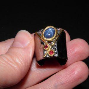 купить кольцо со звёздчатым сапфиром