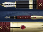 перьевая ручка с родолитом