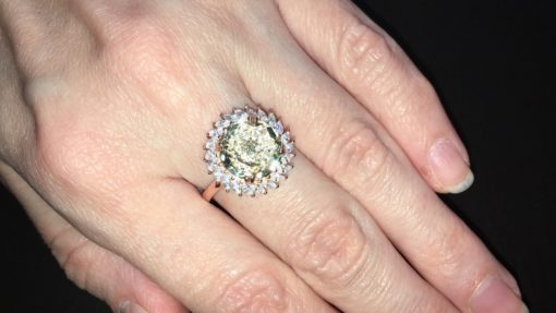 Серебряное кольцо с празиолитом
