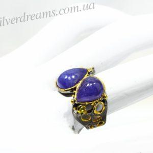 кольцо с крупным танзанитом купить в Украине