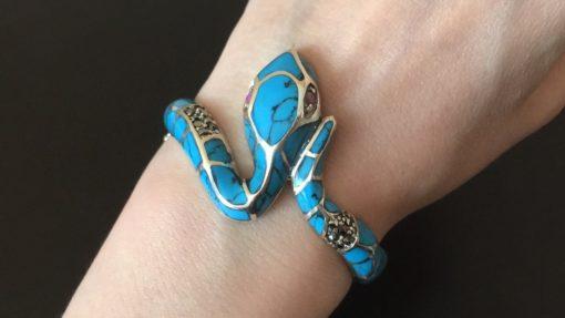 Бирюзовый браслет Змея