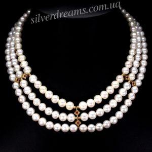 Рубиново-жемчужное ожерелье