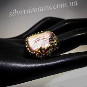Серебряный перстень с барочным жемчугом