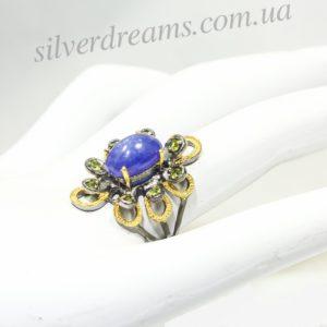 Авторское серебряное кольцо с танзанитом