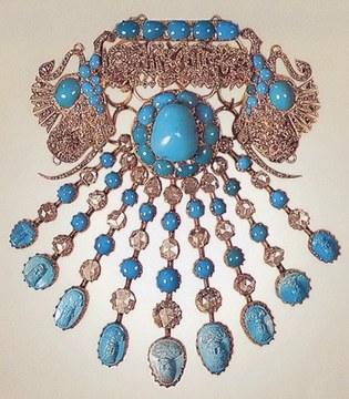 Эгретка из иранской бирюзы, 19 век