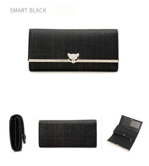 Чёрный кожаный кошелёк