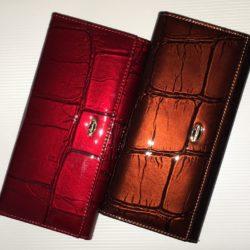 купить кошелёк из лакированной кожи