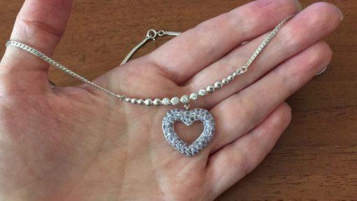 Танзанитовый кулон-ожерелье в серебре