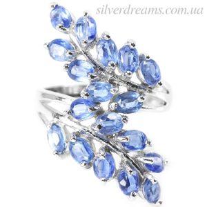 Кианитовое кольцо в серебре