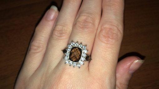 Кольцо с раухтопазом в серебре