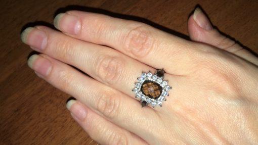Кольцо с раухтопазом купить в Украине