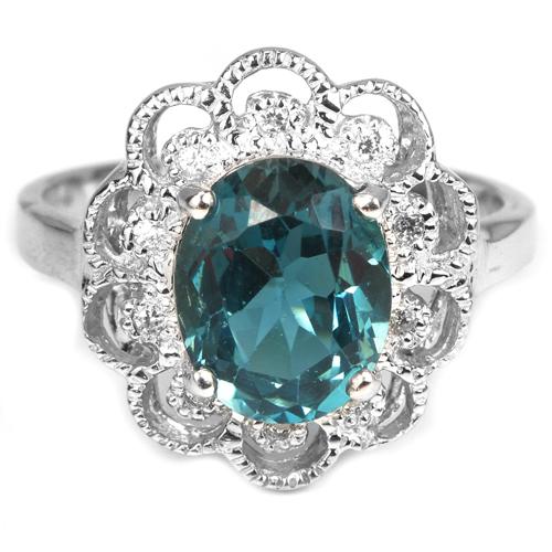 Кольцо с лондонским топазом в серебре