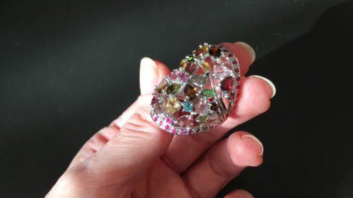 Турмалиновый перстень в серебре