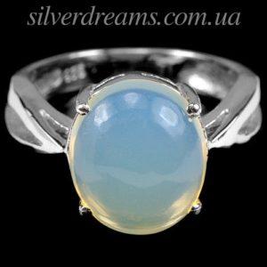 Серебряное кольцо с крупным опалом