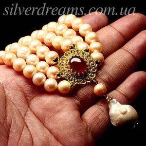 Ожерелье из крупного жемчуга с рубином