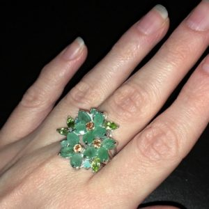 Серебряный перстень с изумрудом