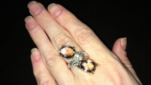 Аметриновое кольцо в серебре