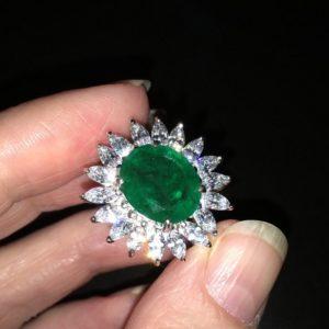 Кольцо с изумрудом купить в Украине