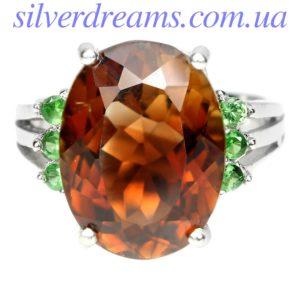 Серебряное кольцо с империал топазом