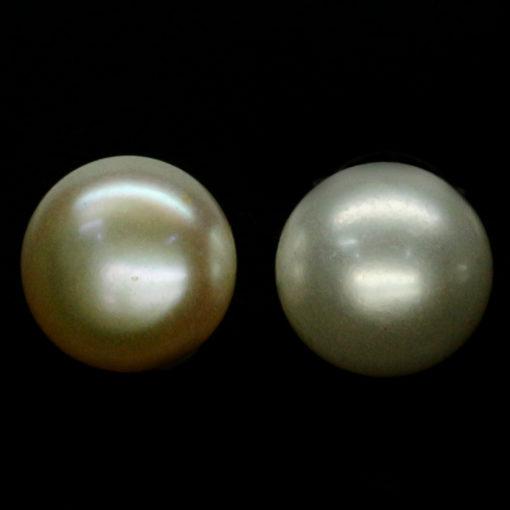 Жемчужные серьги-пусеты в серебре