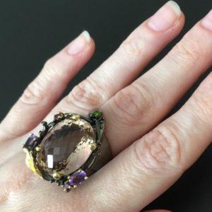 Кольцо с аметрином купить в Украине