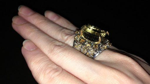 Серебряный перстень с празиолитом